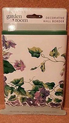 Waverly Garden Room Sweet Violets Wallpaper Border NIP