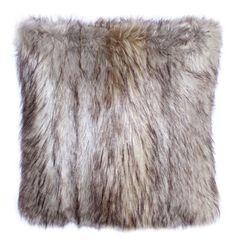 Set of 2 Salvani Inc Swiss Fox Faux Fur Pillow Cover 18 X 18 in