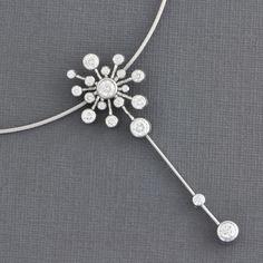 Diamond Starburst Pendant Necklace by Fred of Paris