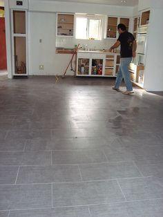 Linen Tile Rectangles Off Set Kitchen And Master Bathroom