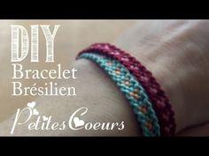 DIY : Bracelet Brésilien Petites Coeurs - YouTube
