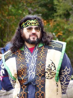 """Ainu man, Japan. There are not so many """"pure"""" Ainu people left. Wavy hair is normally to be seen in Ainu."""