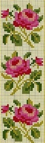 This Pin was discovered by Ays Mini Cross Stitch, Cross Stitch Borders, Cross Stitch Rose, Cross Stitch Alphabet, Cross Stitch Flowers, Cross Stitch Charts, Cross Stitching, Pony Bead Patterns, Loom Patterns