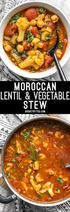 """""""All You Can Eat"""" Cabbage Soup Warm intoxicating spices make this vegetable filled Moroccan Lentil and Vegetable Stew perfect for cold Autumn nights. Veggie Recipes, Whole Food Recipes, Vegetarian Recipes, Cooking Recipes, Healthy Recipes, Budget Recipes, Vegetarian Stew, Food Budget, Budget Cooking"""