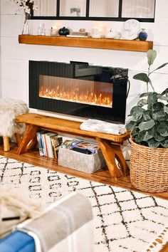 "Shamontiel wrote ""Best Ventless Gas Fireplace""     #homedecor #winterweather #winteriscoming #cabinpressure #cabindesign #interiordesign    (Photo credit:  Andrea Davis/Unsplash)"