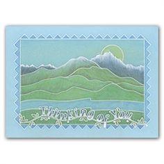Starter Kit Landscape Groovi Card created by Emma Burns Vellum Crafts, Paper Crafts, Card Crafts, Barbara Gray Blog, Handmade Stamps, Handmade Cards, Parchment Cards, Pottery Painting, Artwork Design