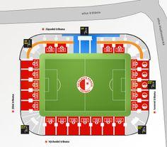 Plánek stadionu Ava