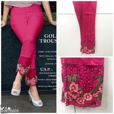 Checkout this latest Churidars Product Name: *Casual Women's Churidar Pants* Fabric: 100% Cotton   Size: L - Up To 28 in To 34 in XL - Up To 34 in To 40 inXXL - Up to 38 in To 46 in  Length: Up To 40 in Type: Stitched Description: It Has 1 Piece Of Women's Cigarette Pant Pattern: Embroidery Country of Origin: India Easy Returns Available In Case Of Any Issue   Catalog Rating: ★4 (2393)  Catalog Name: Casual Women's Churidar Pants CatalogID_739026 C74-SC1016 Code: 034-5076608-1131