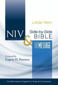 48 best bibles bible covers images on pinterest bible covers title niv and the message side by side bible two bible versions together for study and comparison by zondervan publishing fandeluxe Gallery
