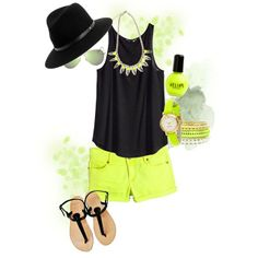 What to Wear Wednesday   Neon Pop of Color Senior Pictures
