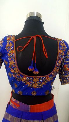 Hi we have boutique and a tailoring unit if interested contact us on Personal designed. Brocade Blouse Designs, Best Blouse Designs, Pattu Saree Blouse Designs, Choli Designs, Designer Blouse Patterns, Bridal Blouse Designs, Blouse Neck Designs, Work Blouse, Embroidery Blouses
