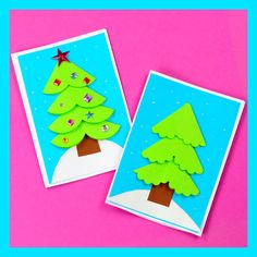 Paper Circle Homemade Christmas Card,Kids Crafts Easy Still looking for your simple DIY Christmas card of the season? You'll love our paper circle homemade Christmas card idea! Homemade Christmas Cards, Christmas Ornament Crafts, Diy Christmas Tree, Christmas Crafts For Kids, Christmas Activities, Holiday Cards, Christmas Decorations, Reindeer Christmas, Diy Christmas Videos
