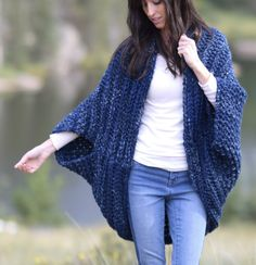 Cozy Blanket Cardigan from Mama in a Stitch