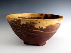 Large Walnut Wood Turned Fruit or Salad Bowl  by JLWoodTurning