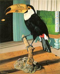 Adolf Dietrich (Swiss, 1877-1957), Pfeffervogel [Toucan], 1927. Oil on cardboard, 46 x 38 cm.    via heartbeat-of-leafy-limbs