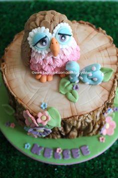 little owl cake and tree bark tutorial - https://www.youtube.com/watch?v=pqRDMSs3Ae4list=UU1z-0SeloNm_6heRY1L4aCA