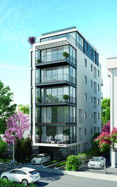 53 Best Ideas For Exterior Design Apartment Facades Office Building Architecture, Building Exterior, Building Facade, Facade Architecture, Residential Architecture, Building Plans, Design Exterior, Facade Design, Townhouse Designs