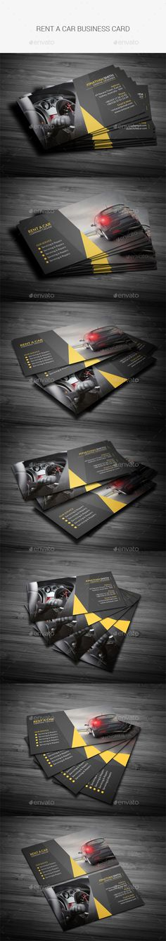 Rent A Car Business Card Template PSD #design Download: http://graphicriver.net/item/rent-a-car-business-card/13563843?ref=ksioks