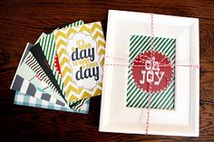 Year Long Gift in a Frame (free download). Such a cute inexpensive gift idea