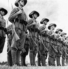 Dutch East Indies troops on parade sometime before the Japanese invasion of Dec1941/Jan 1942