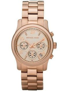 Really liking these rose colored watches. I don't even care much for watches because I don't like watching the clock BUT I'm thinking one of these with a big face and some bling around it. I should shine just like the watch.