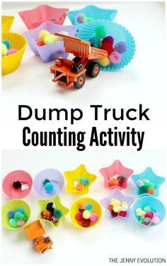 Dump Truck Counting Activity for Kids - Awesome way for kids to learn how to count | The Jenny Evolution