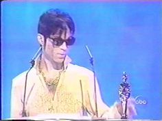 """Prince: best? The Gold Experience: better. In concert: perfectly free. On record: slave. Get wild. Come. Peace. Thank you."" - Prince (Brit Awards 1995)"