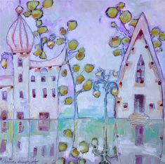 """Daily Paintworks - """"Venetian Reflections"""" - Original Fine Art for Sale - © Anne Ducrot"""