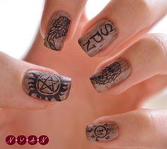 spn nail art | Tumblr