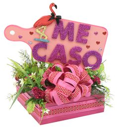 Centro de mesa para Despedida de Soltera en color Rosa