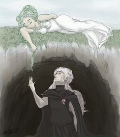 Aww. Summer is hard for newlyweds Persephone and Hades. Waiting for Spring by GunKata on DeviantArt