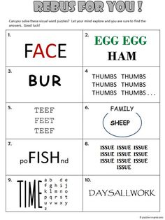 Good strategies for puzzles too. Here is a printable set of rebus puzzles. The answers are included just in case you get stuck and just gotta know. Rebus Puzzles, Logic Puzzles, Thinking Day, Thinking Skills, Creative Thinking, Printable Brain Teasers, Brain Teasers For Kids, Brain Teasers And Answers, Brain Teaser Puzzles