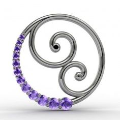 This custom Amethyst pendant was designed for a mother , who has a newborn daughter who was born this past February. She wanted something other than a ring as was quite pleased with the result. The metal is 14k x1 white gold, which is a newer alloy that does not need rhodium plating. #imagesjewelers #customjewelry #amethyst #pendant #whitegold #mother