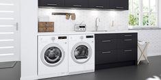 Finn inspirasjon og ideer for vaskerom hos Elkjøp Laundry Room Design, Washing Machine, Sweet Home, Home Appliances, House Appliances, Washer, Appliances