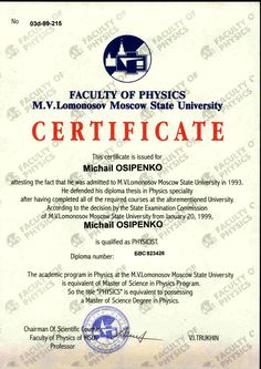 Masters Degree Diploma Diploma of Master Degree