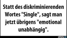 Single = emotional unabhängig