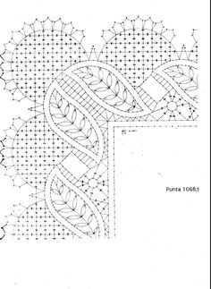 Archivo de álbumes Crochet Borders, Crochet Stitches, Embroidery Stitches, Bobbin Lace Patterns, Weaving Patterns, Doily Art, Bobbin Lacemaking, Lace Painting, Needle Lace