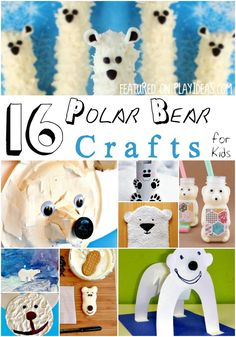 Bring friendly arctic animals into your home with these 16 polar bear crafts for kids! Which polar bear craft will your child try first?