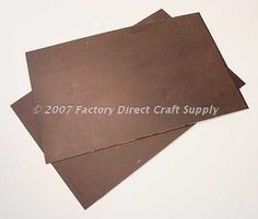 "Rusty Tin Steel Sheets - 2pcsSize: 8-1/2"" x 5-1/2""..."