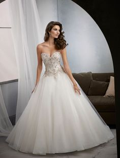 MGNY 39016 wedding dress at Glamourous Gowns.