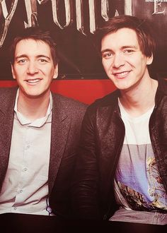 James and Oliver Phelps. Just met them on the weekend at supanova they are so lovely!