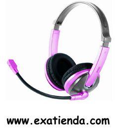 Ya disponible Auricular + mic Approx pink (rosa) apphs03p   (por sólo 16.89 € IVA incluído):   -Cascos Auriculares multimedia con diadema ajustable, para la música, teléfono, juegos...Incluye micrófono integrado en brazo flexible y cancelación de ruído. 2,5 m de cable con control de volumen.  -3,5 mm para la conexion a su PC/portatil -Cable de: 2,5 metros -Regulador de volumen e interruptor de encendido/ apagado de microfono integrados en el cable -Microfono con canc