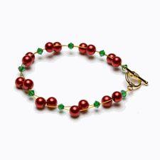 Jewelry Making - Bracelet Kit - Christmas Holly