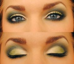 Green and Grey this is what my wedding makeup was based off of!