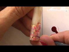 """Nail Art by Anna Milay. """"Gel Blumen mit Glitter"""" - YouTube"""