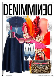 """""""Denim mined"""" by pineapplejulep ❤ liked on Polyvore featuring Chicwish, Anrealage, MINKPINK, The Body Shop, Amélie Pichard, Hill & Friends and Denimondenim"""