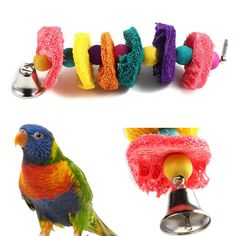 >> Click to Buy << Natural hamster Bird Toy Parrot Cages Cockatoo Chew Masticate Paw Loofah Sponge Bite-resistant Drop Shipping cage oiseau #Affiliate