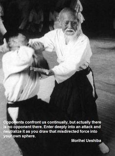 Aikido Wisdom From Master Ueshiba Aikido Martial Arts Martial Arts Quotes Aikido Quotes