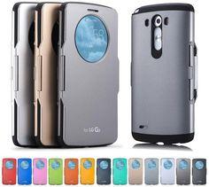 $8 eBay - Circle Flip Window Folio Smart Sleep Hard Rubber Silicone Case Cover For LG G3 #LSF