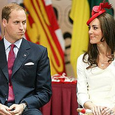 Prince William and Catherine Duchess of Cambridge, aka Kate Middleton, on Canada Day. She is wearing the Reiss Nanette dress, bespoke fascinator by Sylvia Fletcher for Lock & Company, and carrying the Anya Hindmarch 'Fan' Clutch. 07/01/11